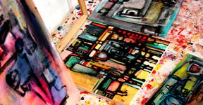 Etelka Kovacs Koller Action Painting