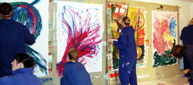 Action Painting für Frauen