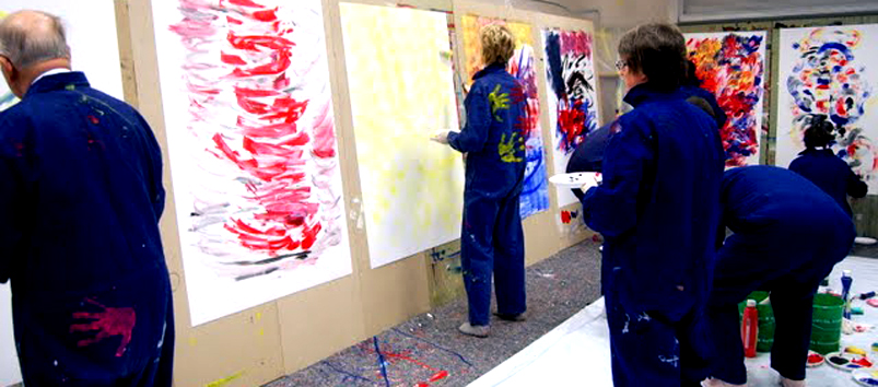 Teamevent Action Painting