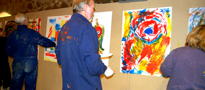 Kundenevent Action Painting
