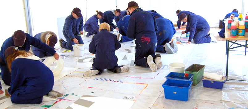 Action Painting Teamevent