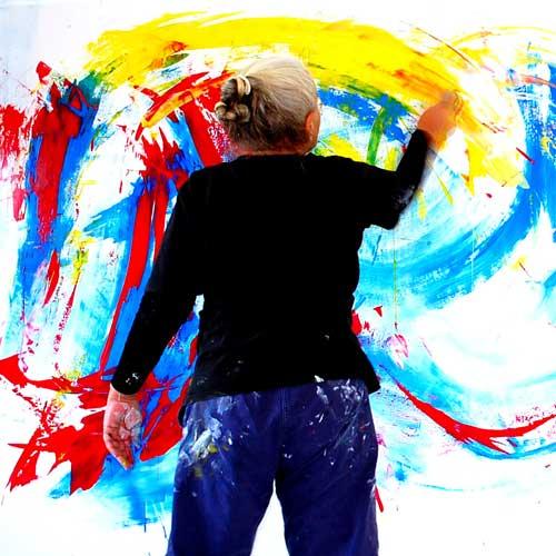Etelka Kovacs-Koller - Live Action Painting, München