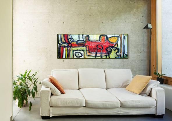 Original Acrylbild von Etelka Kovacs-Koller - Mit Hintergrund - Etuede