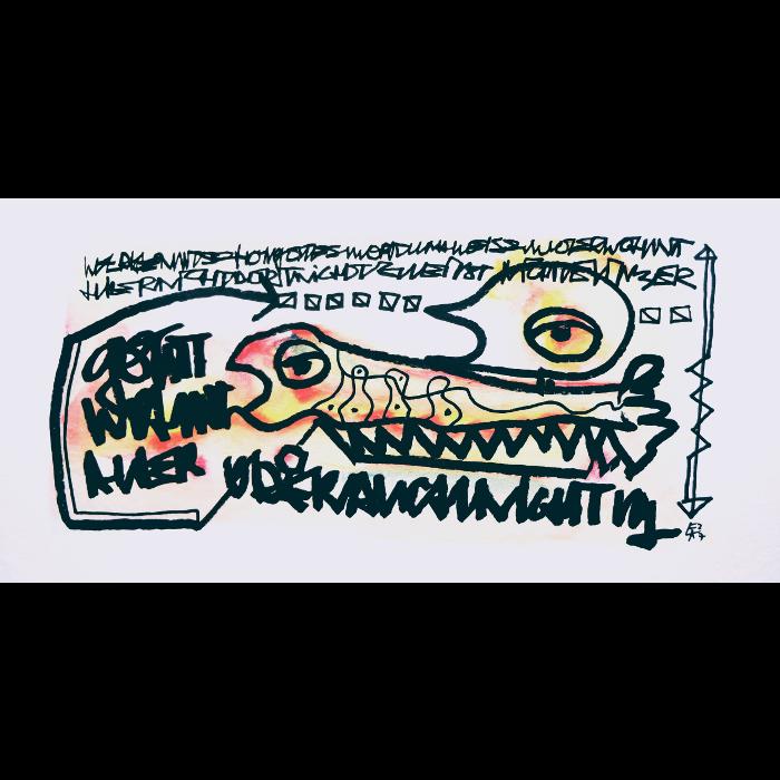 Wortsalat Nr.11 - Zeichnung von Etelka Kovacs-Koller, gemalt 2007 in der Provence