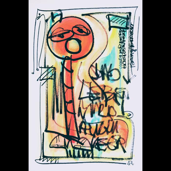 Wortsalat Nr.18 - Zeichnung von Etelka Kovacs-Koller, gemalt 2007 in der Provence