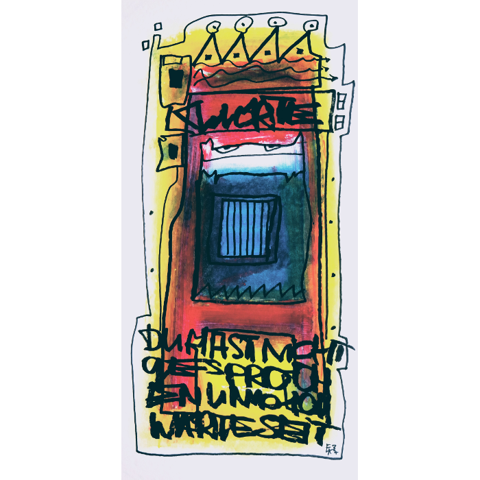 Wortsalat Nr3 Zeichnung von Etelka Kovacs-Koller, gemalt 2007 in der Provence
