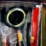 Action Painting auf kleinen Formaten