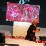 Live Action Painting Etelka Kovacs-Koller for Yves Saint Laurent 2012