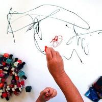 Action Painting mit Nagellack Etelka Kovacs-Koller