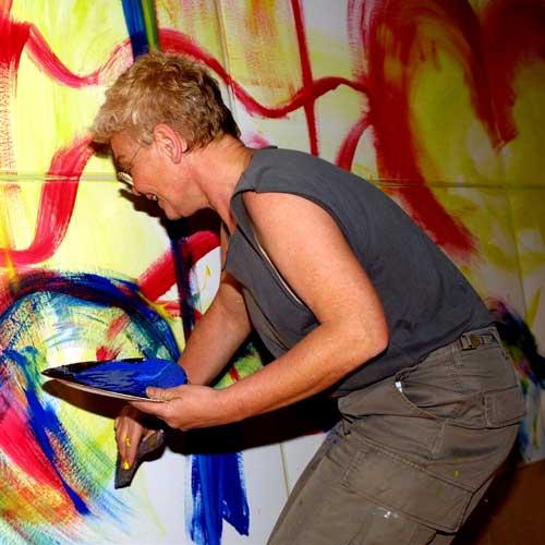 Etelka Kovacs-Koller - Live Action Painting, Ibiza