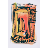 Wortsalat Nr.16 - Zeichnung von Etelka Kovacs-Koller, gemalt 2007 in der Provence