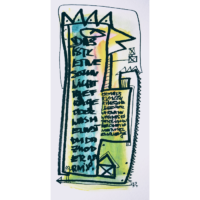 Wortsalat Nr6 - Zeichnung von Etelka Kovacs-Koller, gemalt 2007 in der Provence