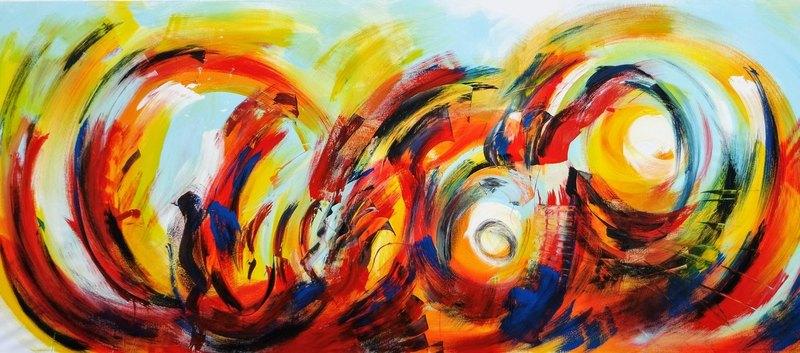Erster Teil des Action Paintings aus Frankfurt