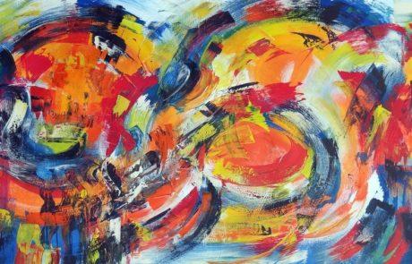 Action Painting im Großformat, Acrylfarben auf Leinwand - von Etelka Kovacs-Koller