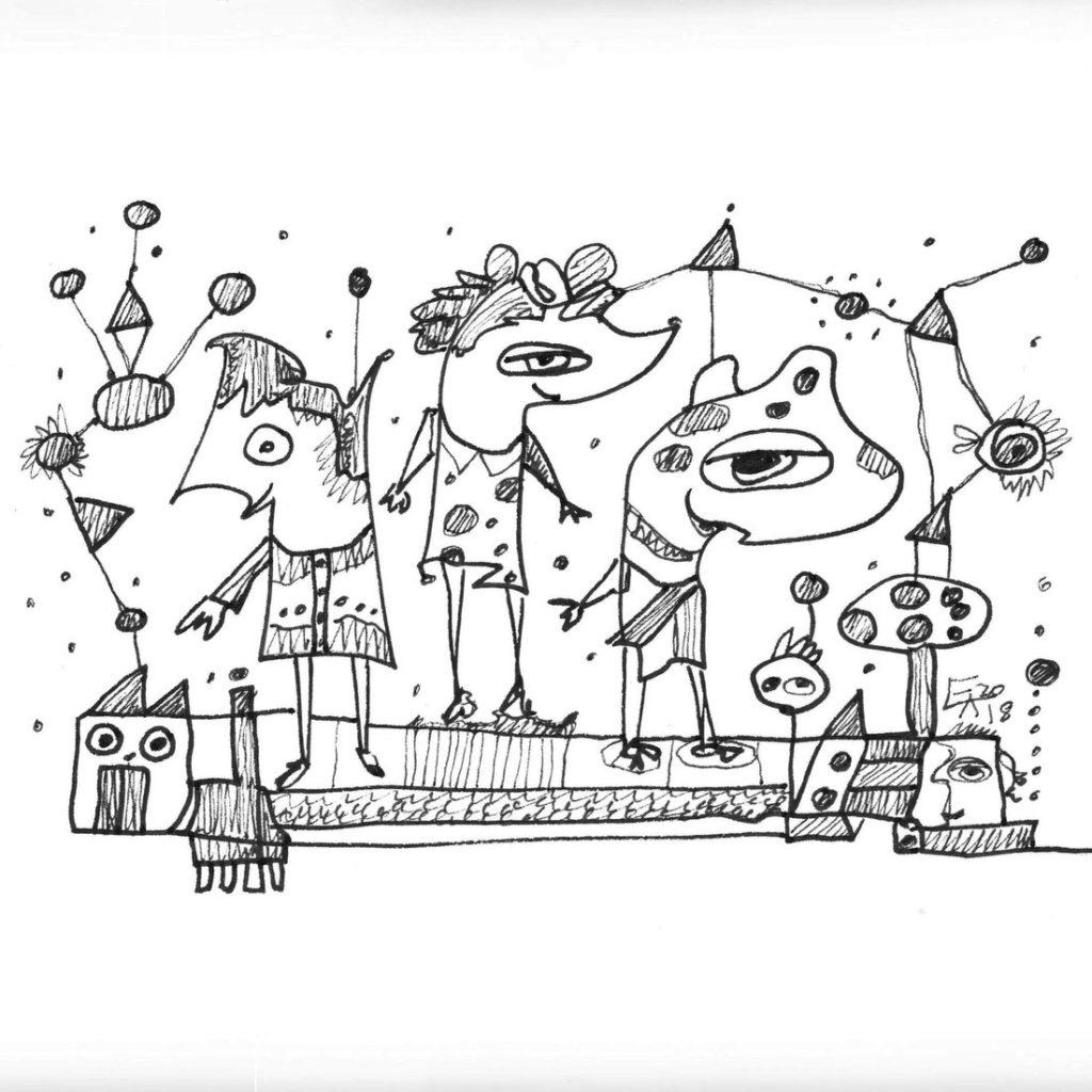 Etelka Kovacs-Koller Zeichnungen 2018 KleineInseln