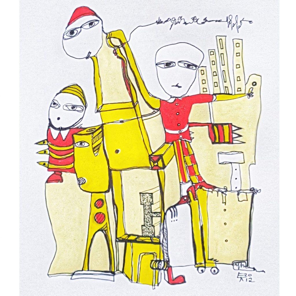 Zeichnung 2013-14 Etelka Kovacs-Koller