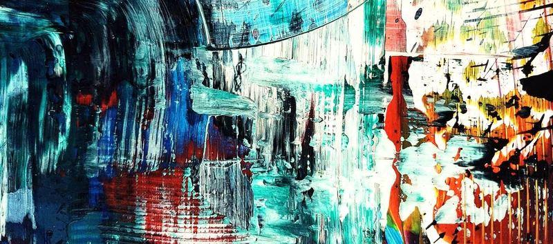 Etelka Kovacs-Koller - Kleine Wunder Acrylfarbe auf Screenboard 13cm x 18cm